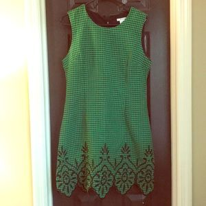 Emerald Green and Black Boutique Dress